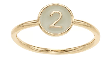 LC Lauren Conrad Monogram Number Ring Kohl's