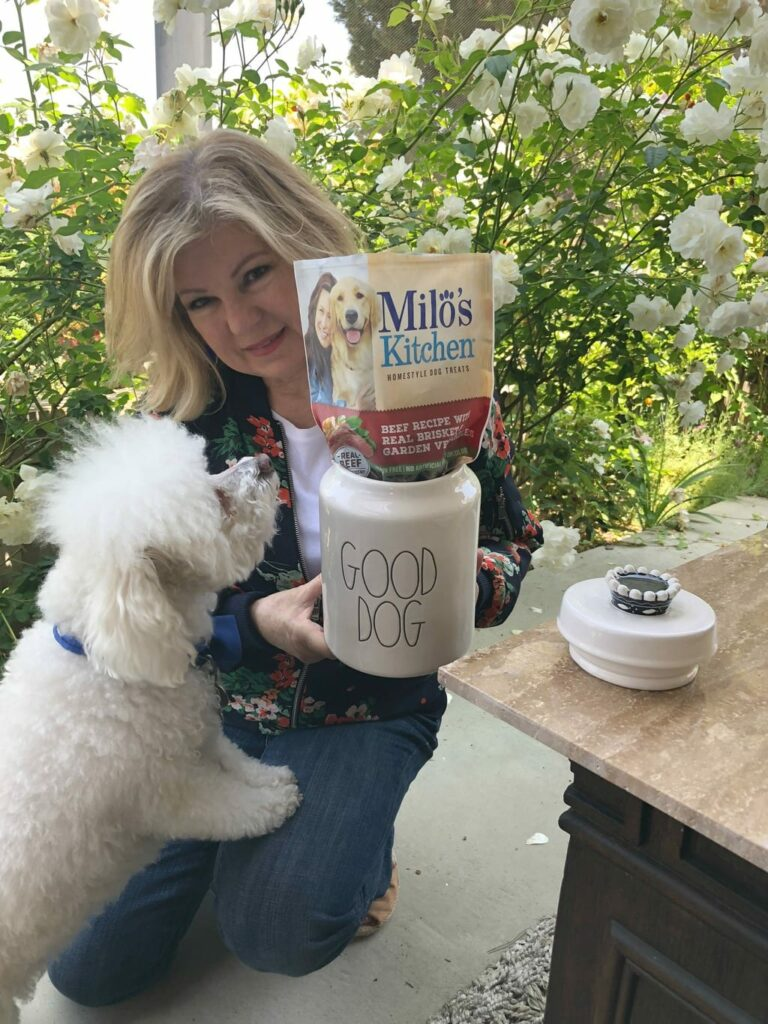 training treats using Milo's Kitchen Dog Treats from Walmart