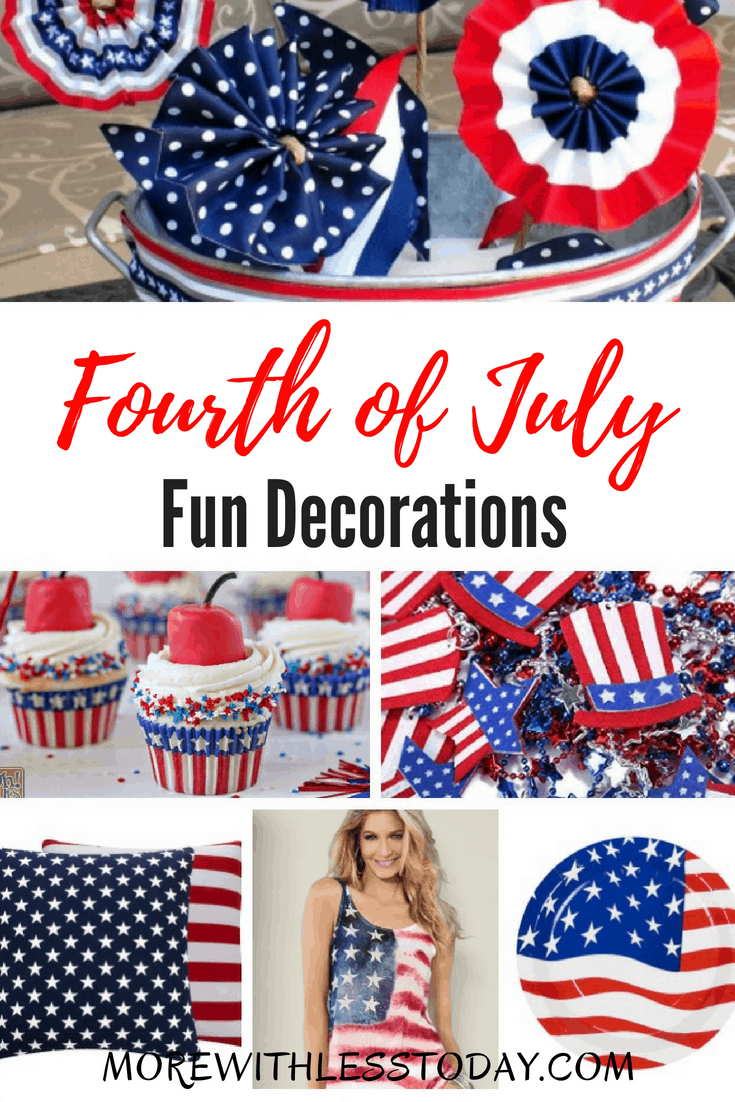 4th of July Home Decorating Ideas - Red White and Blue Patriotic Decor. Celebrate our nation's birthday in style with these 4th of July Home Decorating Ideas. Red White and Blue Patriotic Decor will get into the holiday spirit!