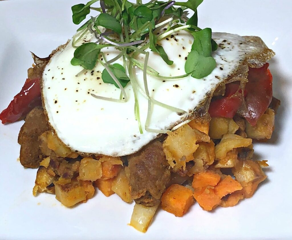 Chorizo and Sweet Potato Hash Butcher's Breakfast Omaha Steaks