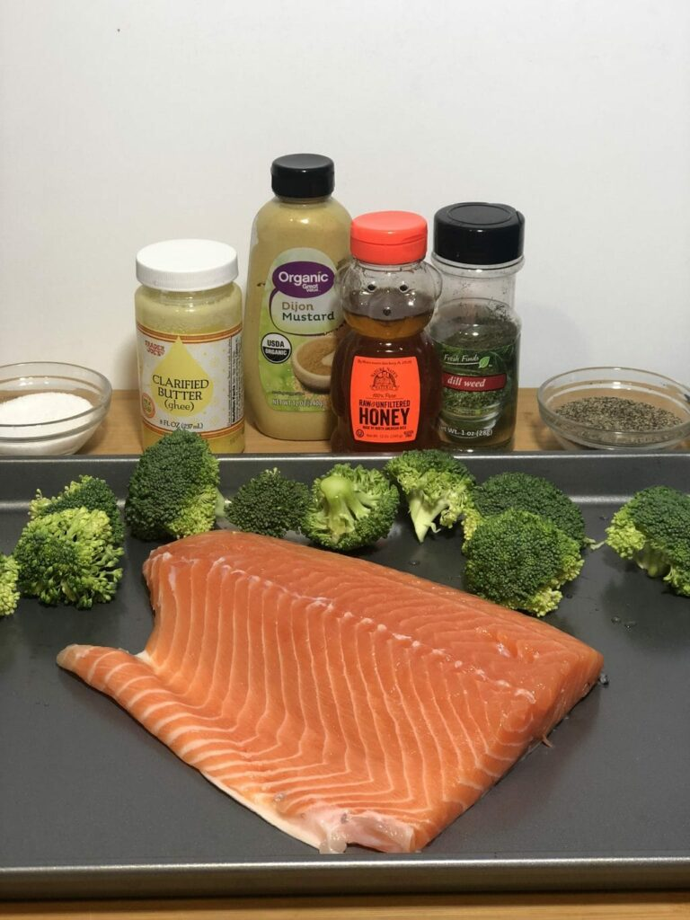 sheet pan salmon recipe ingredients