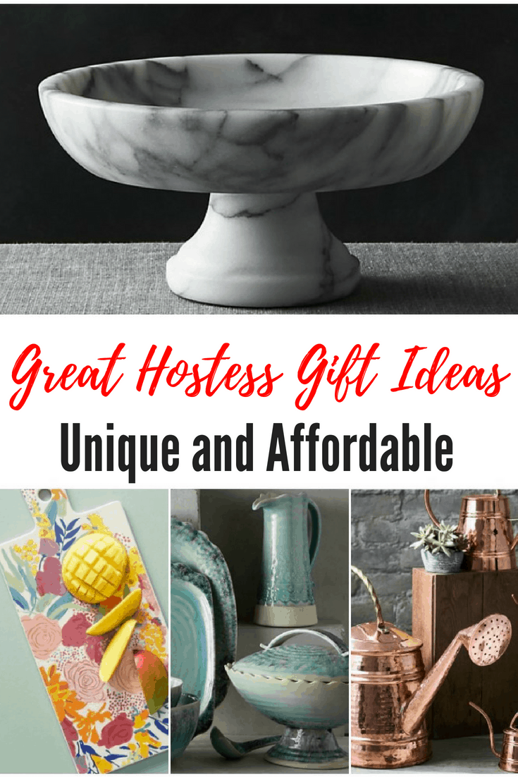 What to Buy For The Hostess - Unique and Affordable Hostess Gifts to Take or Send. If you are looking for the perfect hostess gift, check out our selections below. We look for gift ideas that are a little out of the ordinary and look like some time and effort went into the gift.