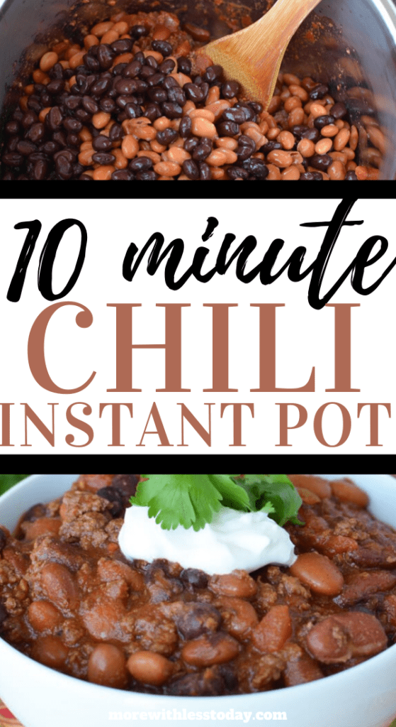 How to make a Chili in the Instant Pot - quick easy recipe