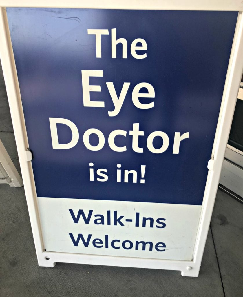 The Eye Doctor is In sign