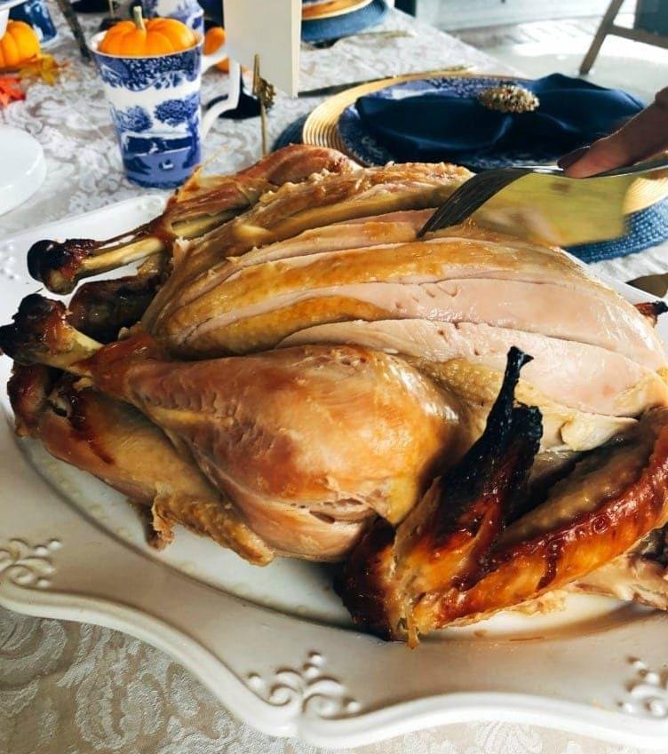 Omaha Steaks Thanksgiving Turkey carved