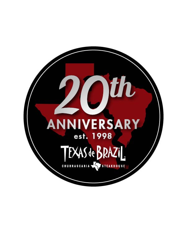 20th anniversary celebration logo Texas de Brazil