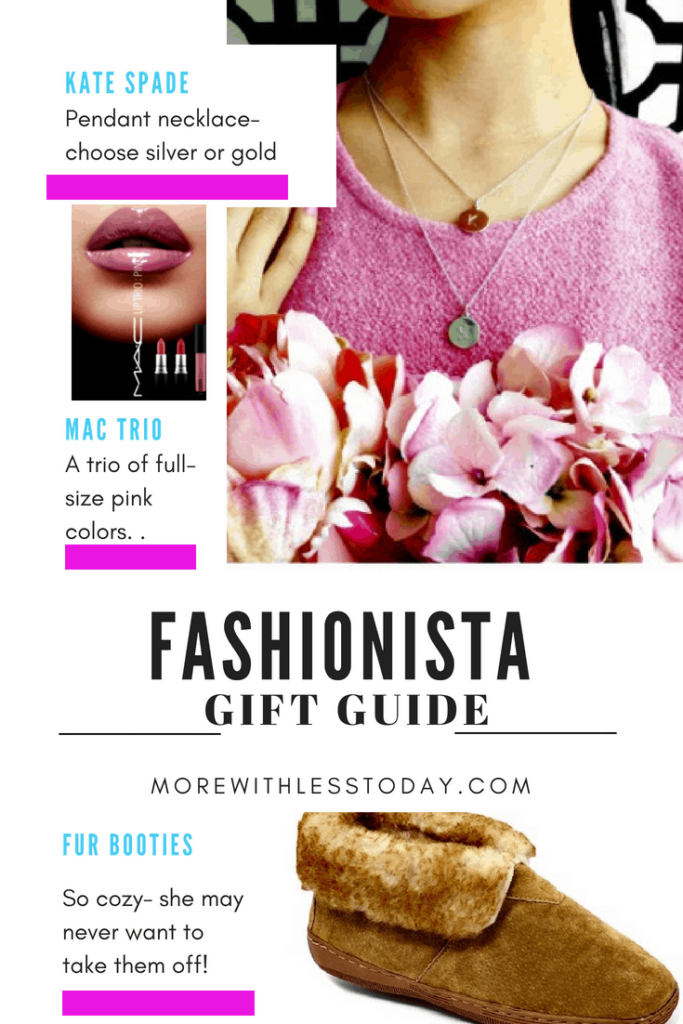 collage of trendy fashionable gifts for her