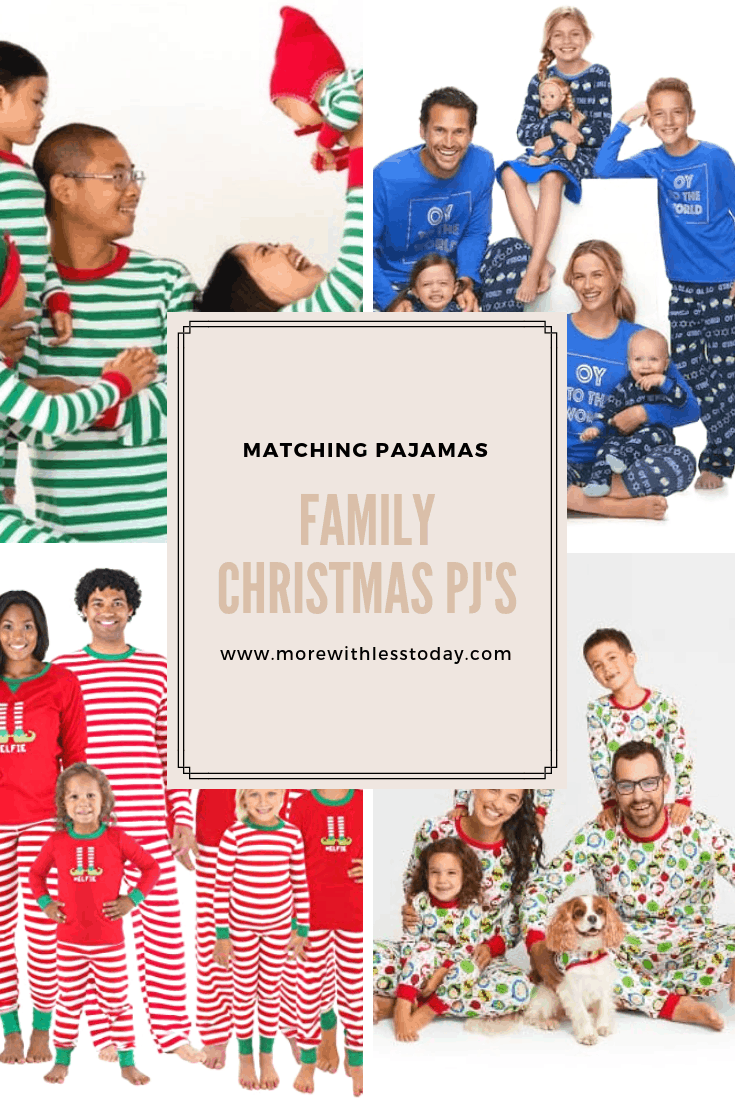 Family Christmas Pajama Sets - Best Matching Holidays PJs for Everyone 2018  Edition - More With Less Today 44acfd2ca