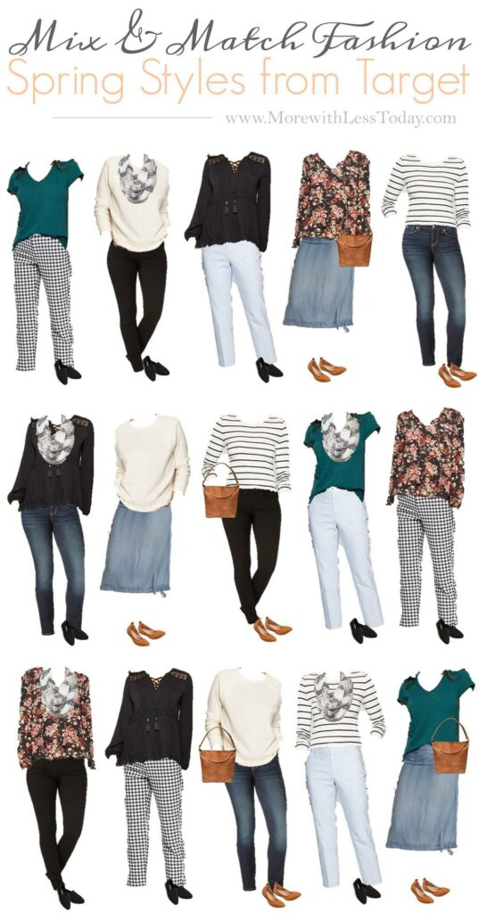 collage of Target fashion for women
