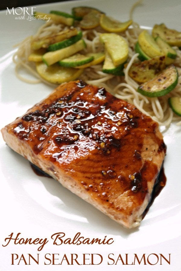 Honey Baked Pan Seared Salmon recipe from More with Less Today