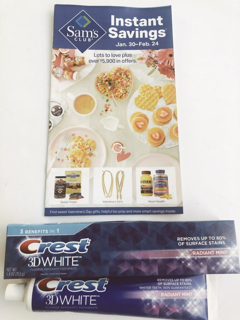 Crest 3D White Toothpaste at Sam's club