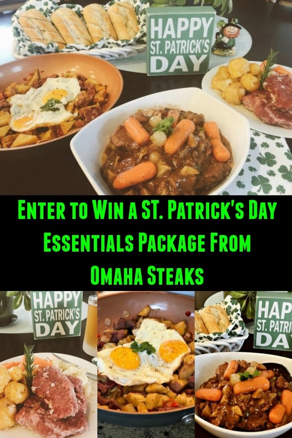 enter to win a St. Patrick's Day package from Omaha Steaks