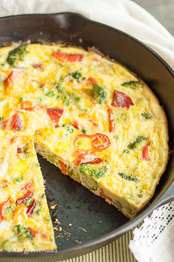 Smoked Salmon and Veggie Frittata recipe by Allergy Free Alaska