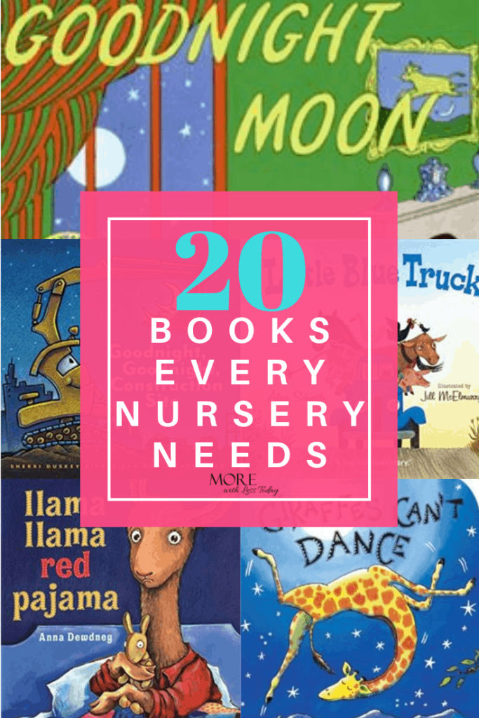 collage of 20 books for a nursery