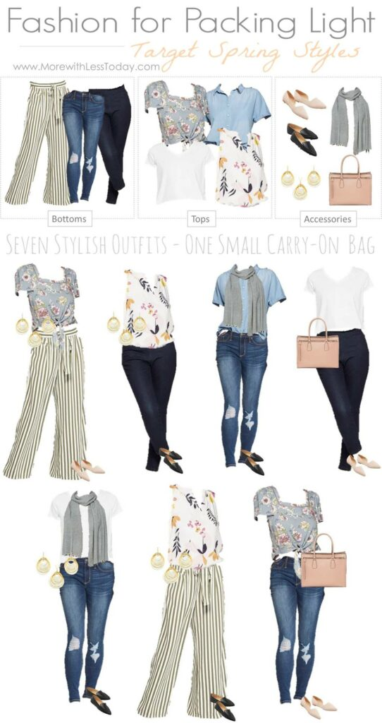 a collage of Spring fashion from Target