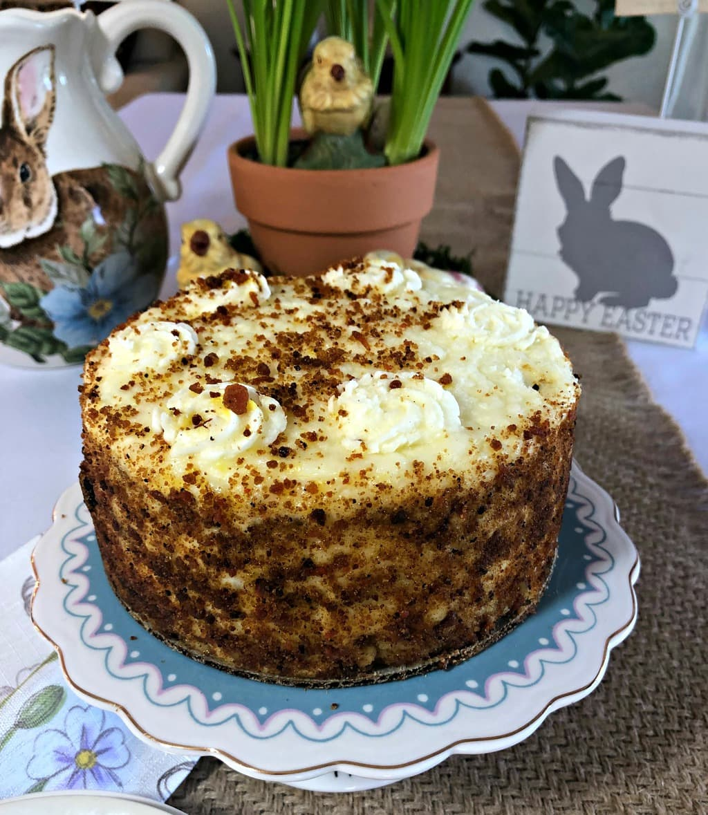 photo of two-layer carrot cake from Omaha Steaks