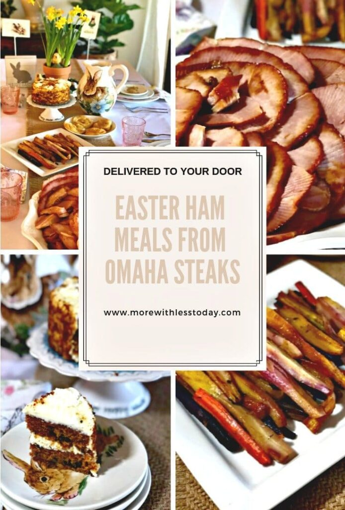 collage of Easter Ham meals from Omaha Steaks
