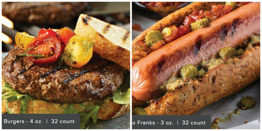 photo of Burgers and franks package from Omaha Steaks