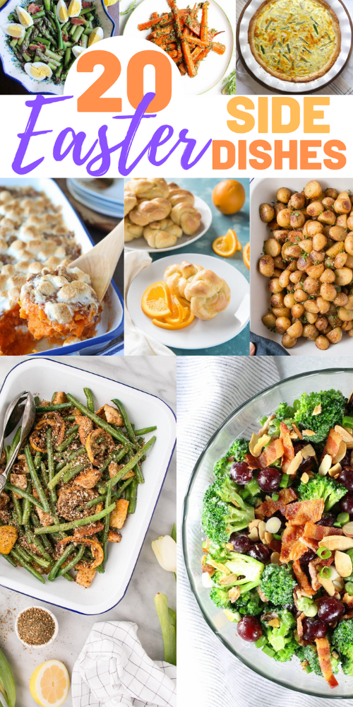 collage photo of Easter side dish recipes