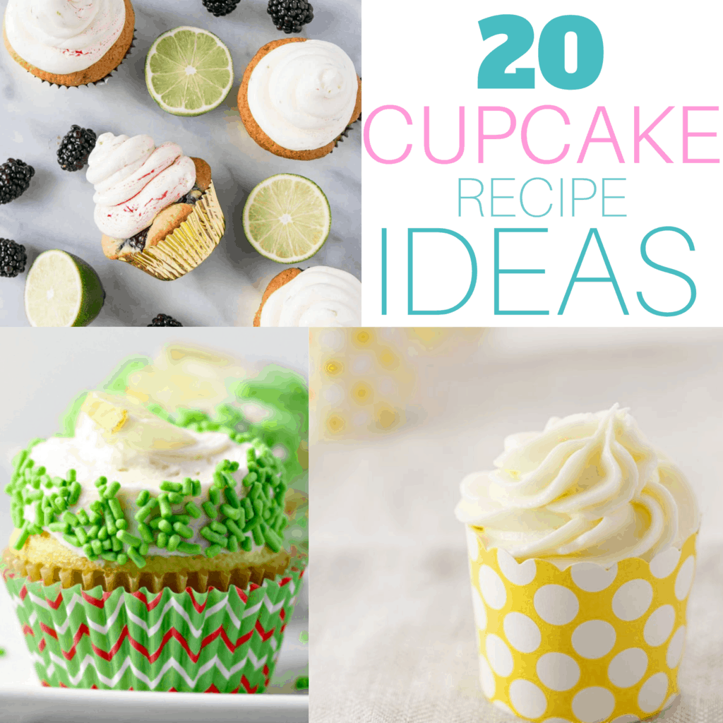 collage photo of cupcake recipe ideas