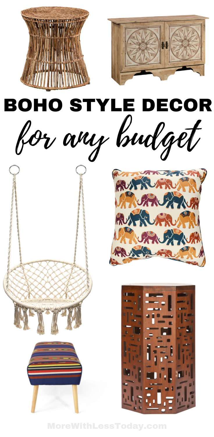 Boho Style Decor for any budget