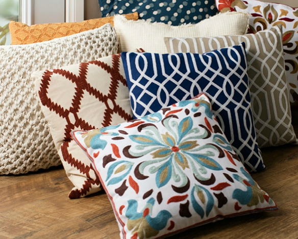 decorative pillow with various patterns