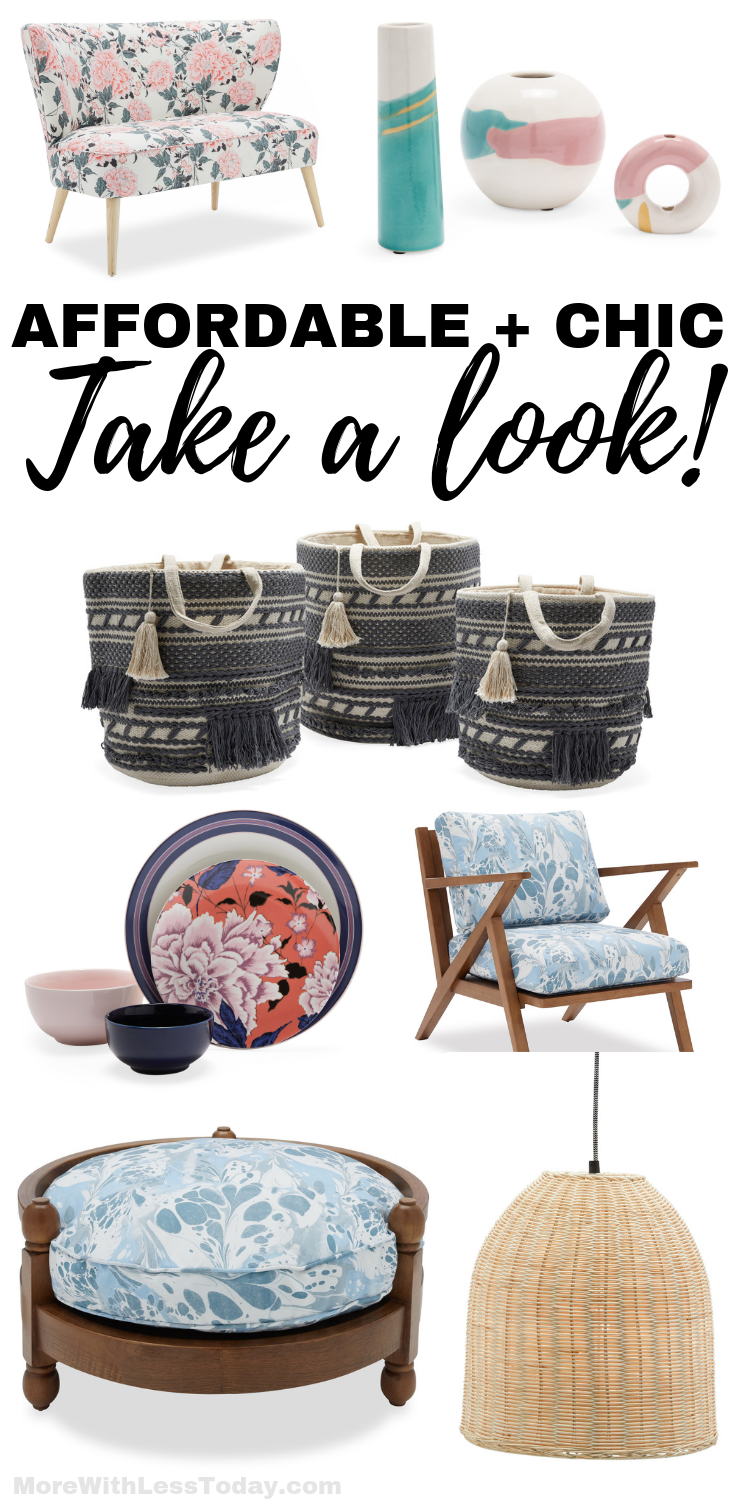 collage featuring favorite items from the Drew Barrymore Flower Home Collection at Walmart