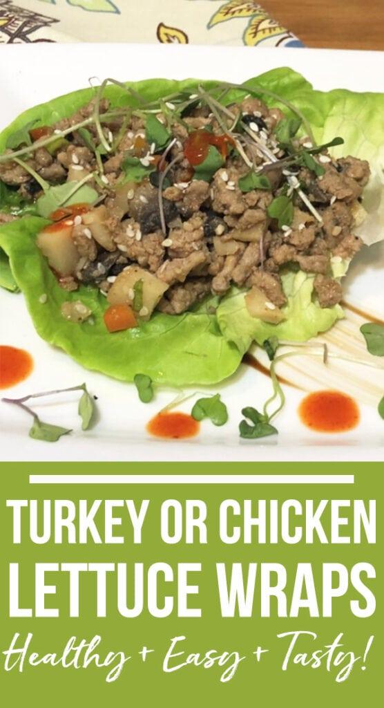 Turkey or Lettuce Wraps recipe
