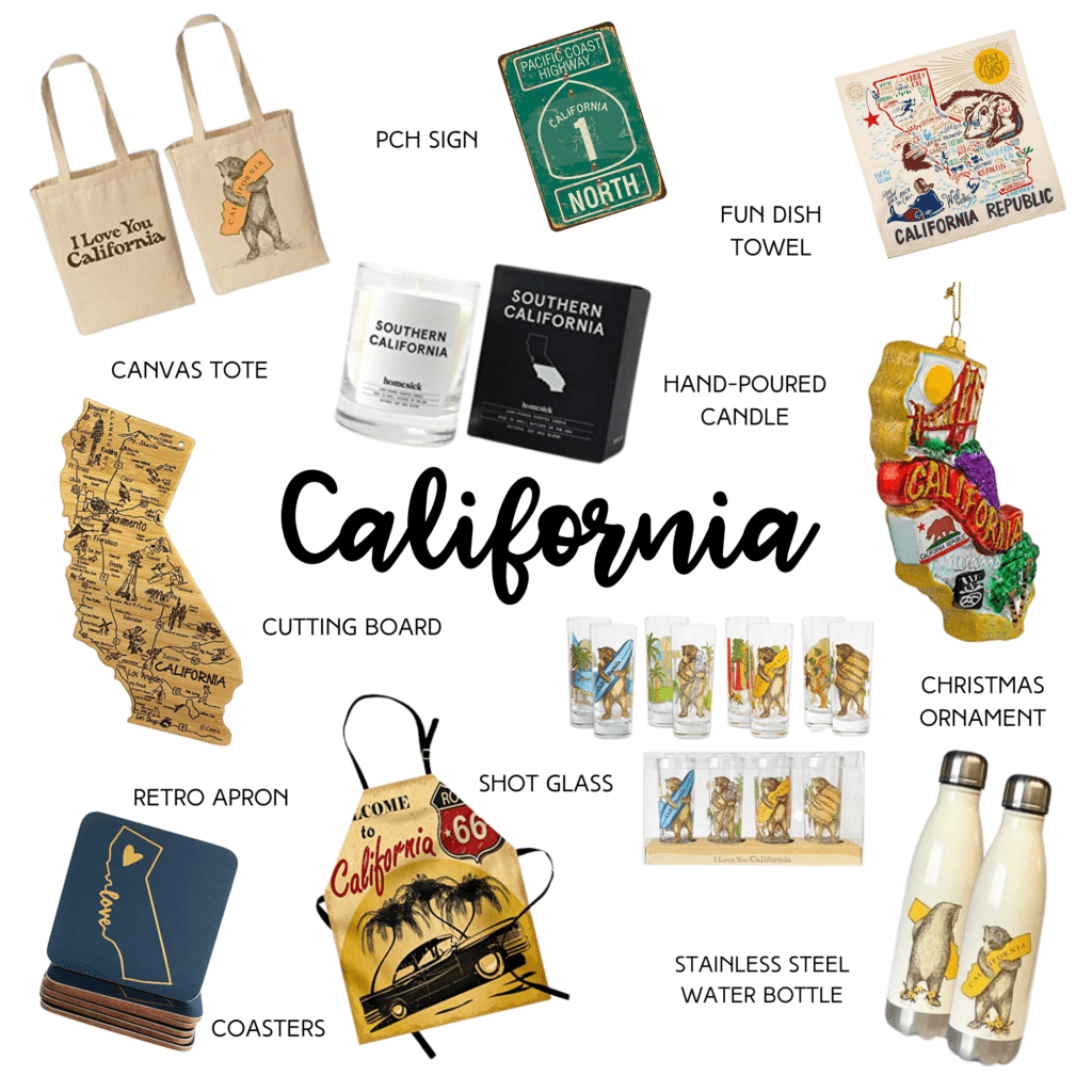 California gift ideas collage