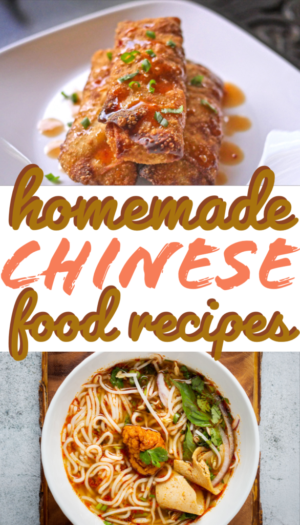 collage photo of homemade chinese food recipes