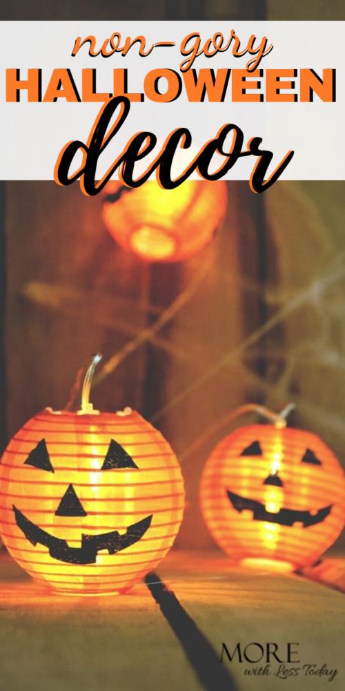 non gory halloween decor
