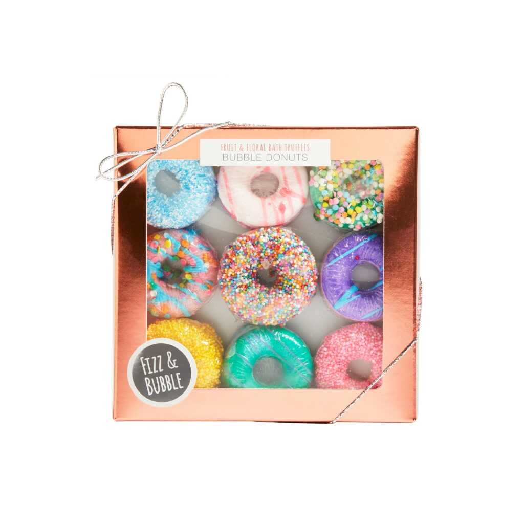 Fizz & Bubble Bubble Donut Bath Bomb Gift Set, Fruit and Floral