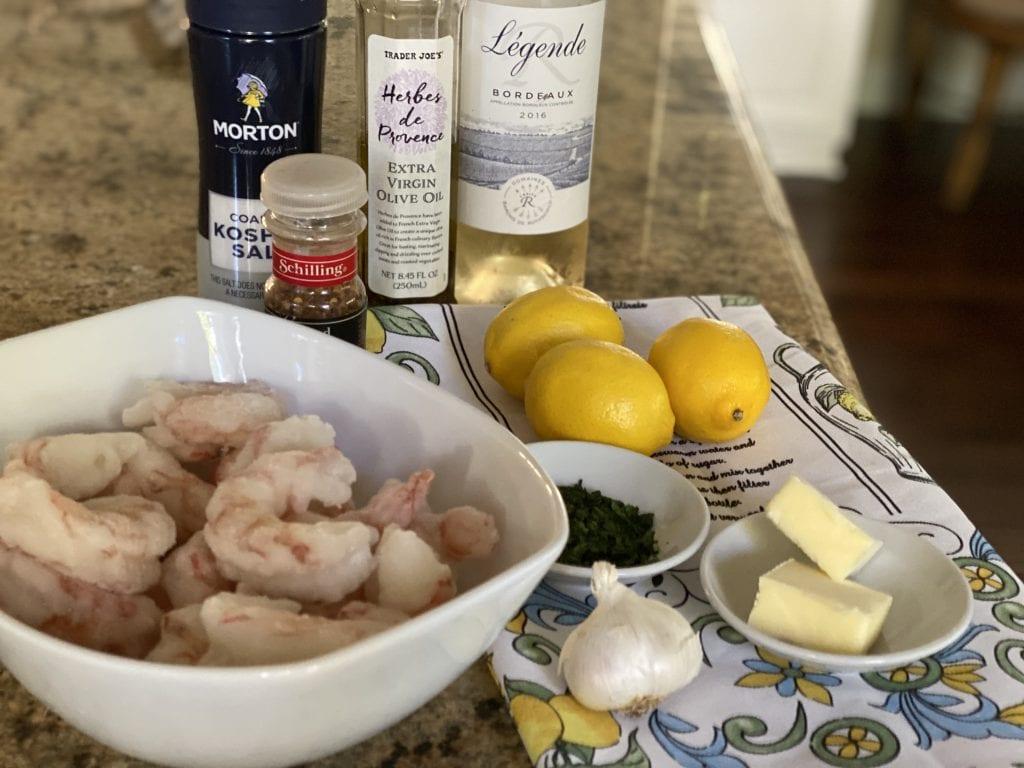 ingredients for Lemon Shrimp Scampi recipe