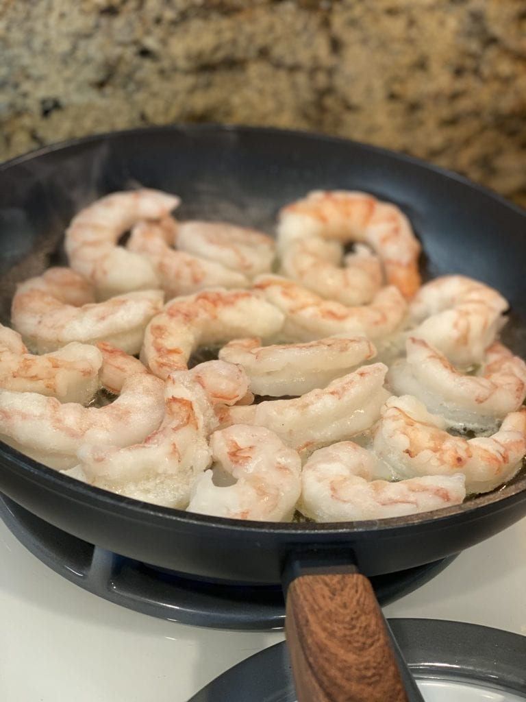 cooking Argentinian shrimp from World Port Seafood