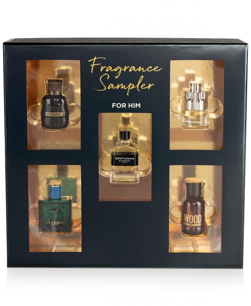 5 piece Fragrance Sampler Set for men at Macy's