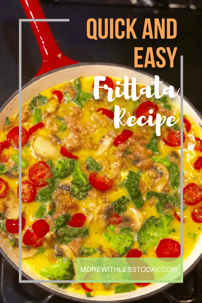 Learn how to make a Frittata using leftover vegetables