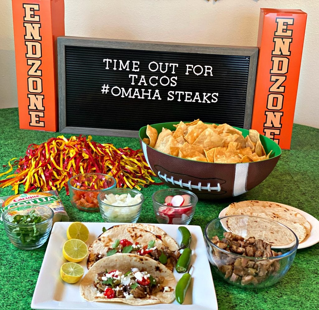 taco bar Omaha Steaks
