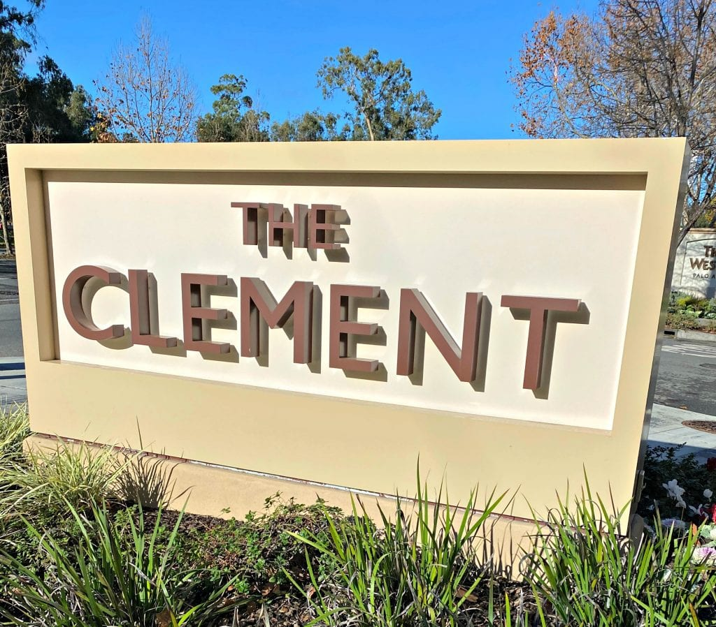 The Clement Hotel sign
