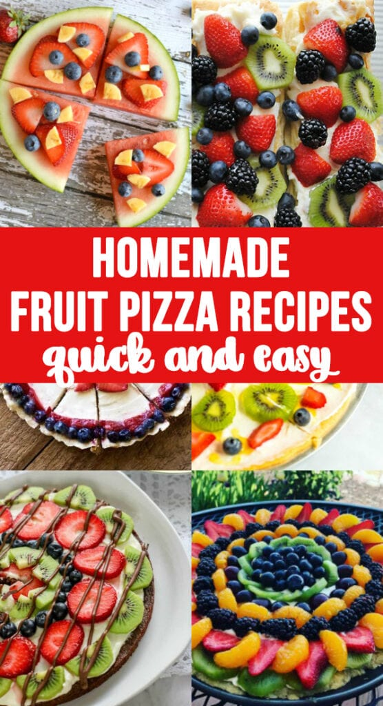 Homemade Fruit Pizza Recipes- qucik, easy and so good! Find a recipe you like and make one today.