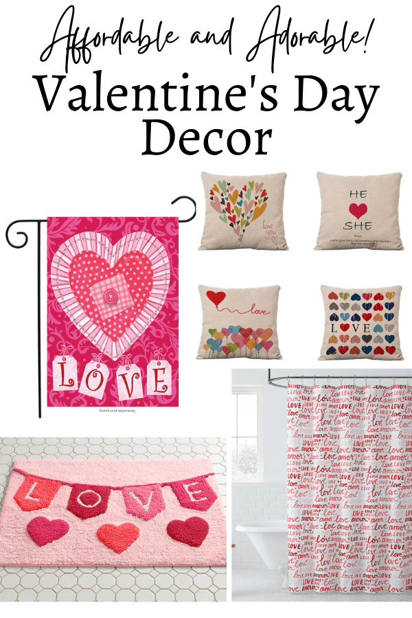 Valentine's Day decor affordable and adorable from our favorite stores