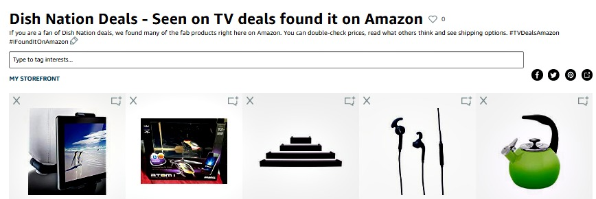 Dish Nation deals Amazon store