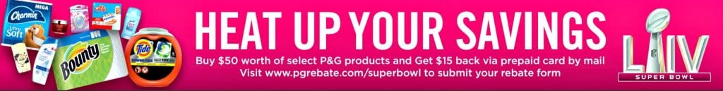 Score $15 back Heat Up Your Savings P&G rebate offer