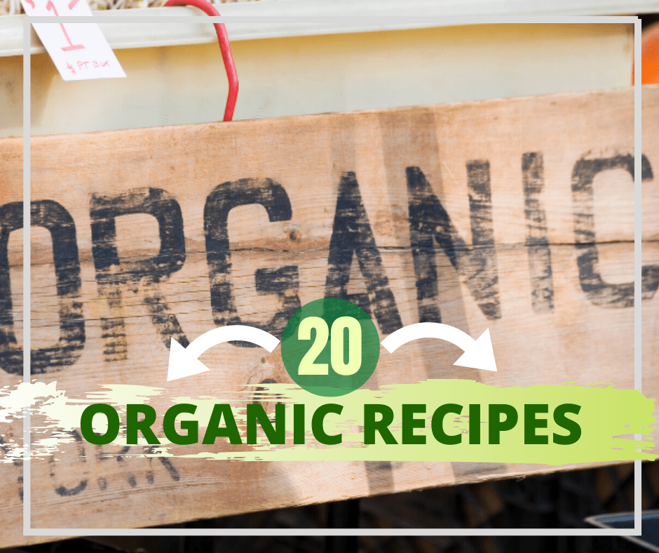 list of 20 organic recipes with the word organic as a graphic