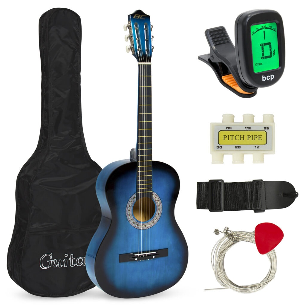 Best Choice Products Beginners Acoustic Guitar with Case, Strap, Tuner and Pick