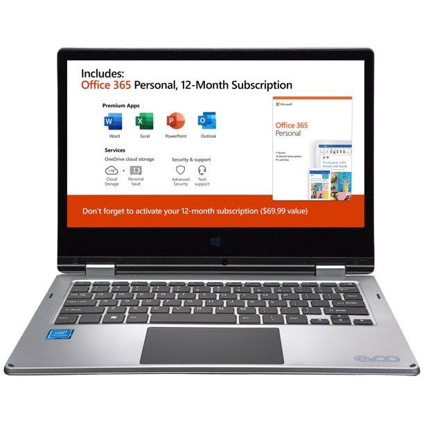 "EVOO 11.6"" Convertible Touchscreen Laptop"