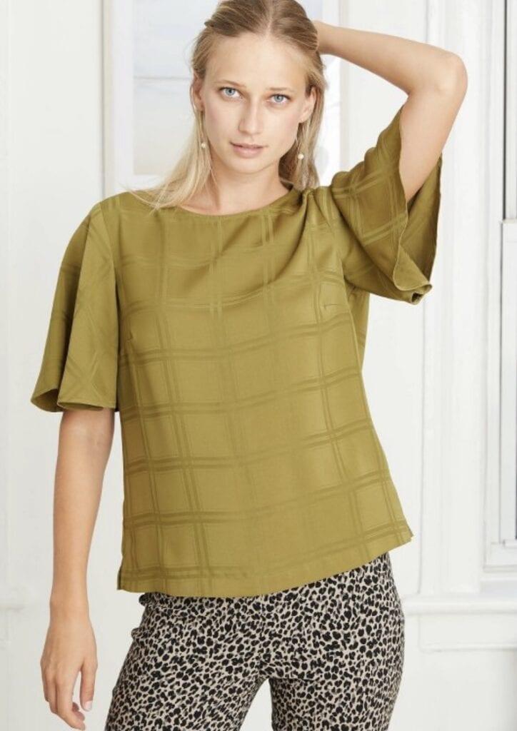 Women's Short Sleeve Woven T-Shirt - A New Day™ Target clearance