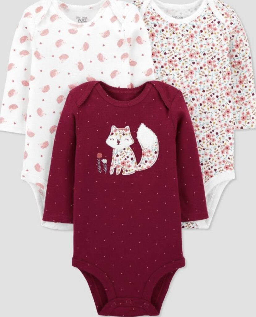 Baby Girls' 3pk Floral Long Sleeve Bodysuit - Just One You® Made by Carter's Target clearance item