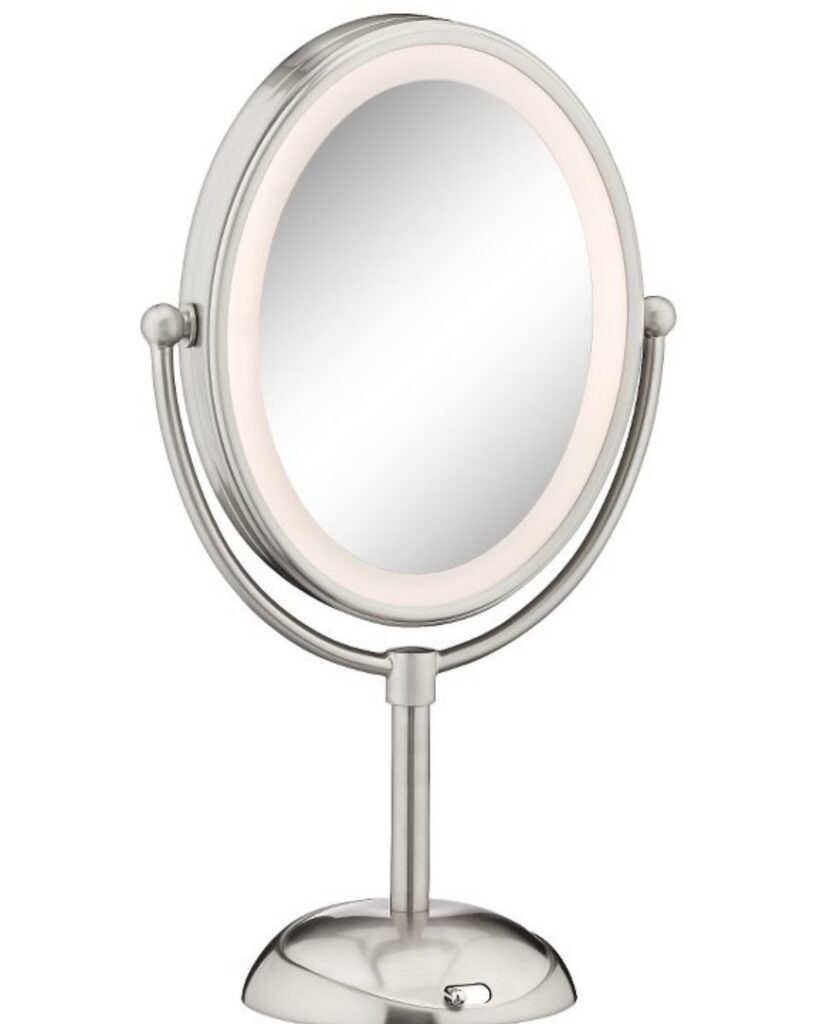 Conair Double-Sided LED Lighted Satin Nickel Finish Cosmetic Mirror Target clearance item