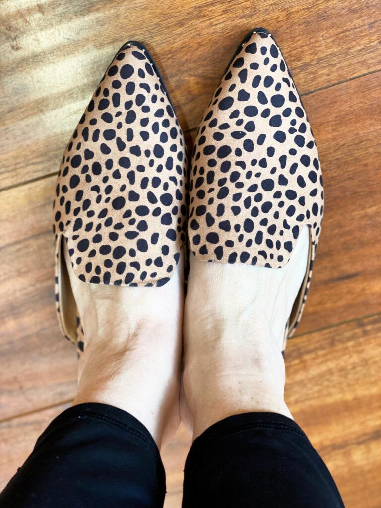 Loft online clearance outlet leopard mules
