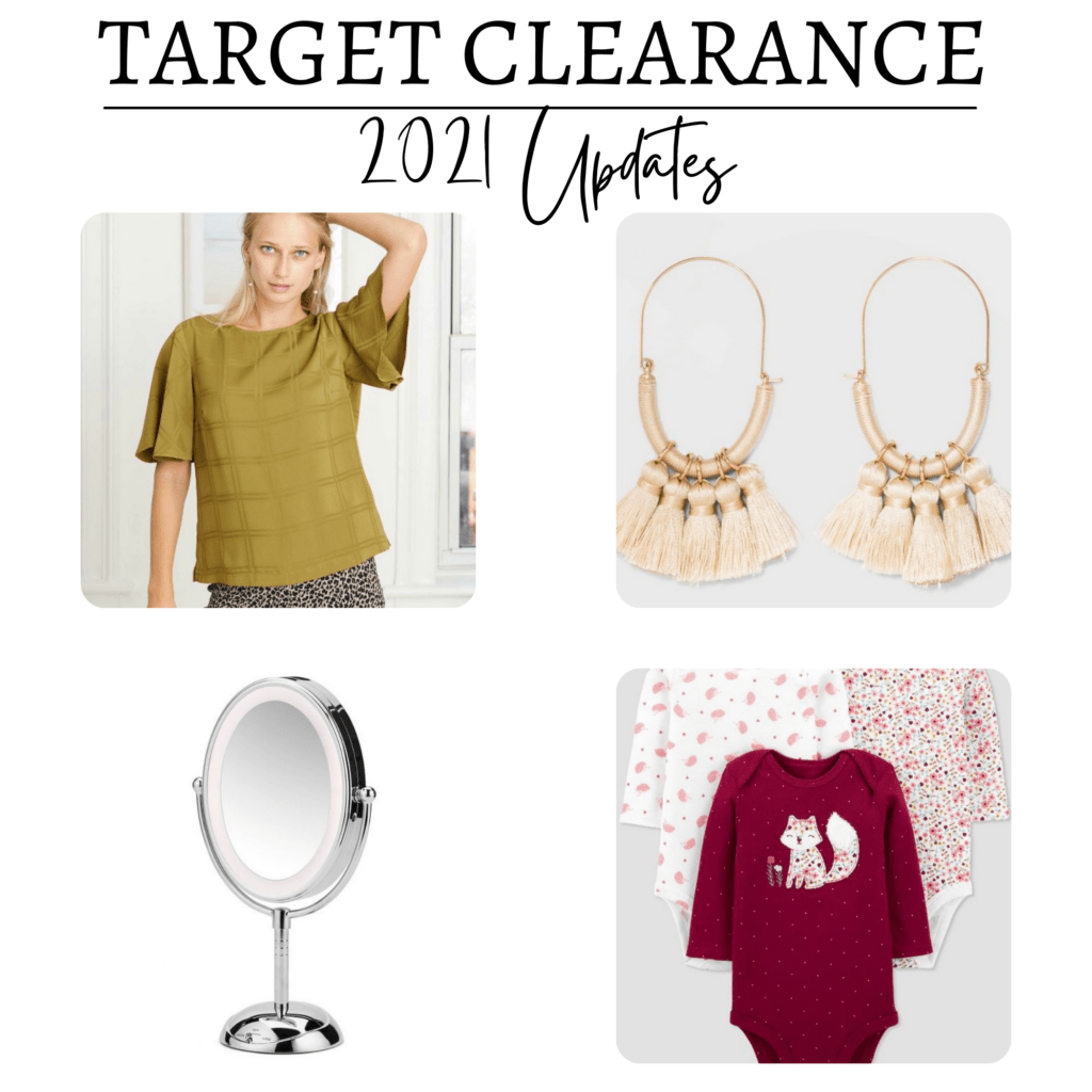 Target clearance collage of items
